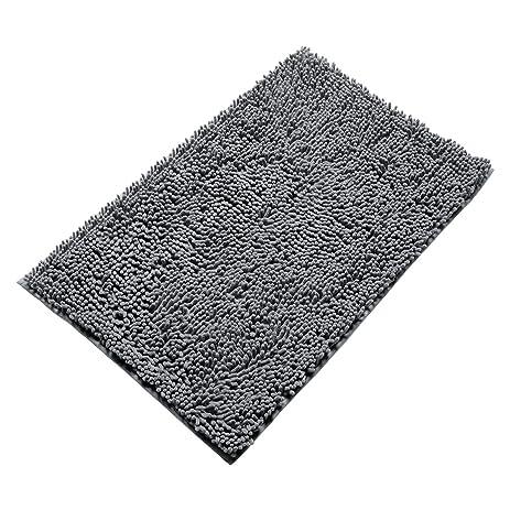 Amazoncom Vdomus Nonslip Microfiber Shag Bathroom Mat X - Black shag bathroom rug for bathroom decorating ideas