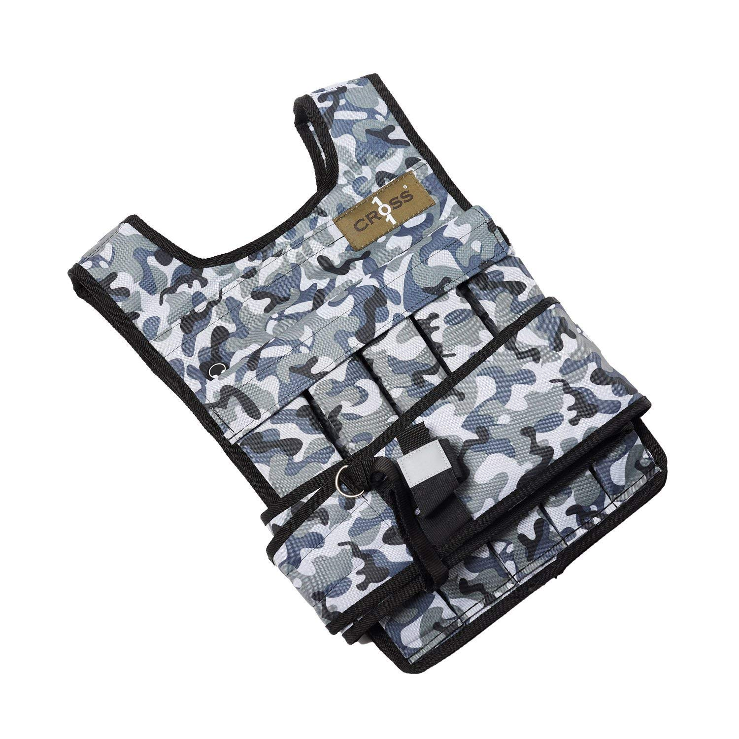 CROSS101 Adjustable Camouflage Weighted Vest 12LBS - 140LBS (Arctic - 60LBS) by CROSS101 (Image #2)