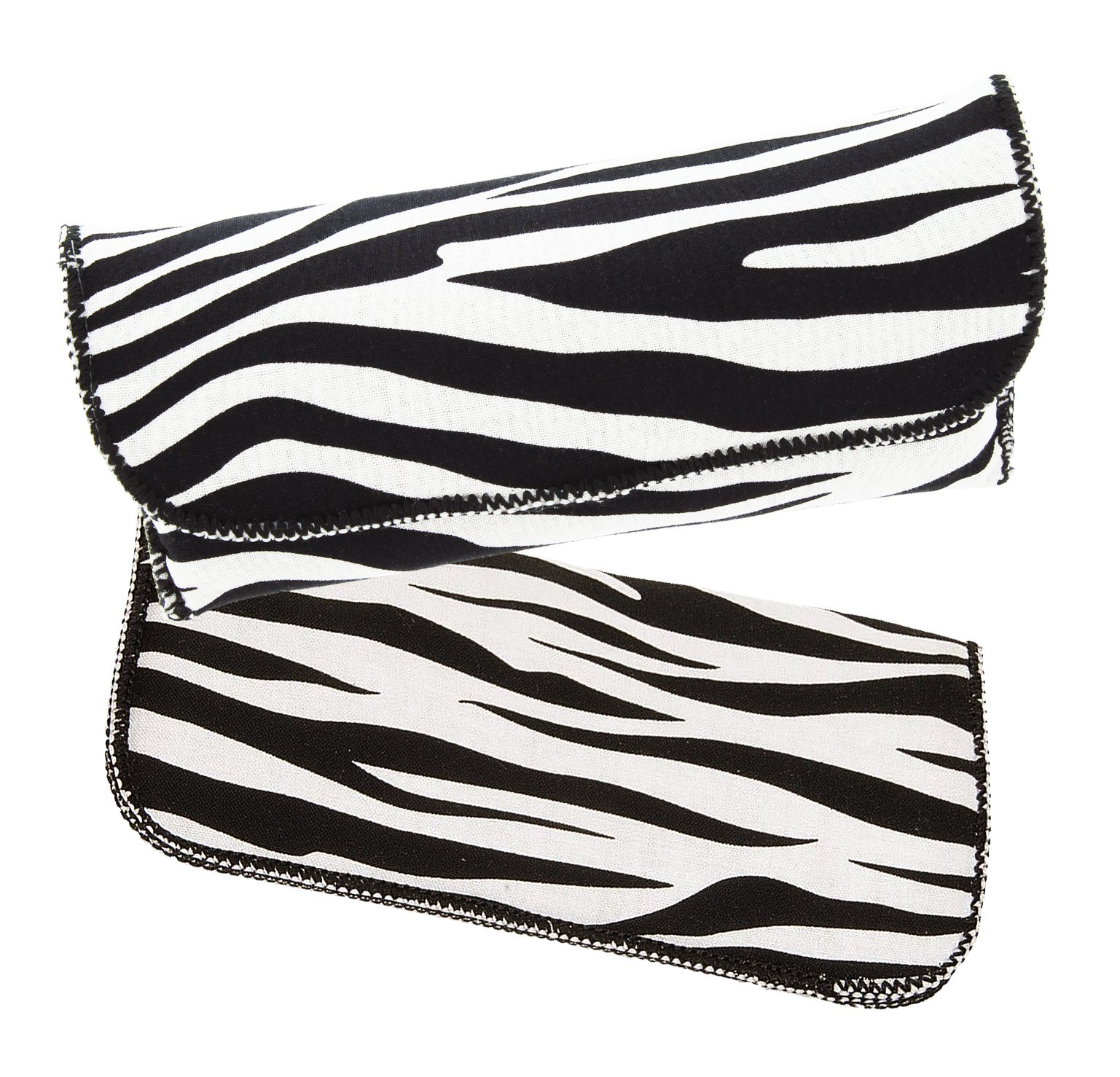 Women's Fashion Eyewear Case Combo Pack For Small To Large Glasses, Zebra Print