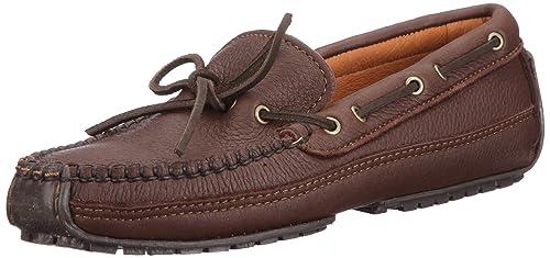 Minnetonka Moosehide Weekend Moc - Mocasines Hombre, Marrón (Chocolate), 40.5: Amazon.es: Zapatos y complementos
