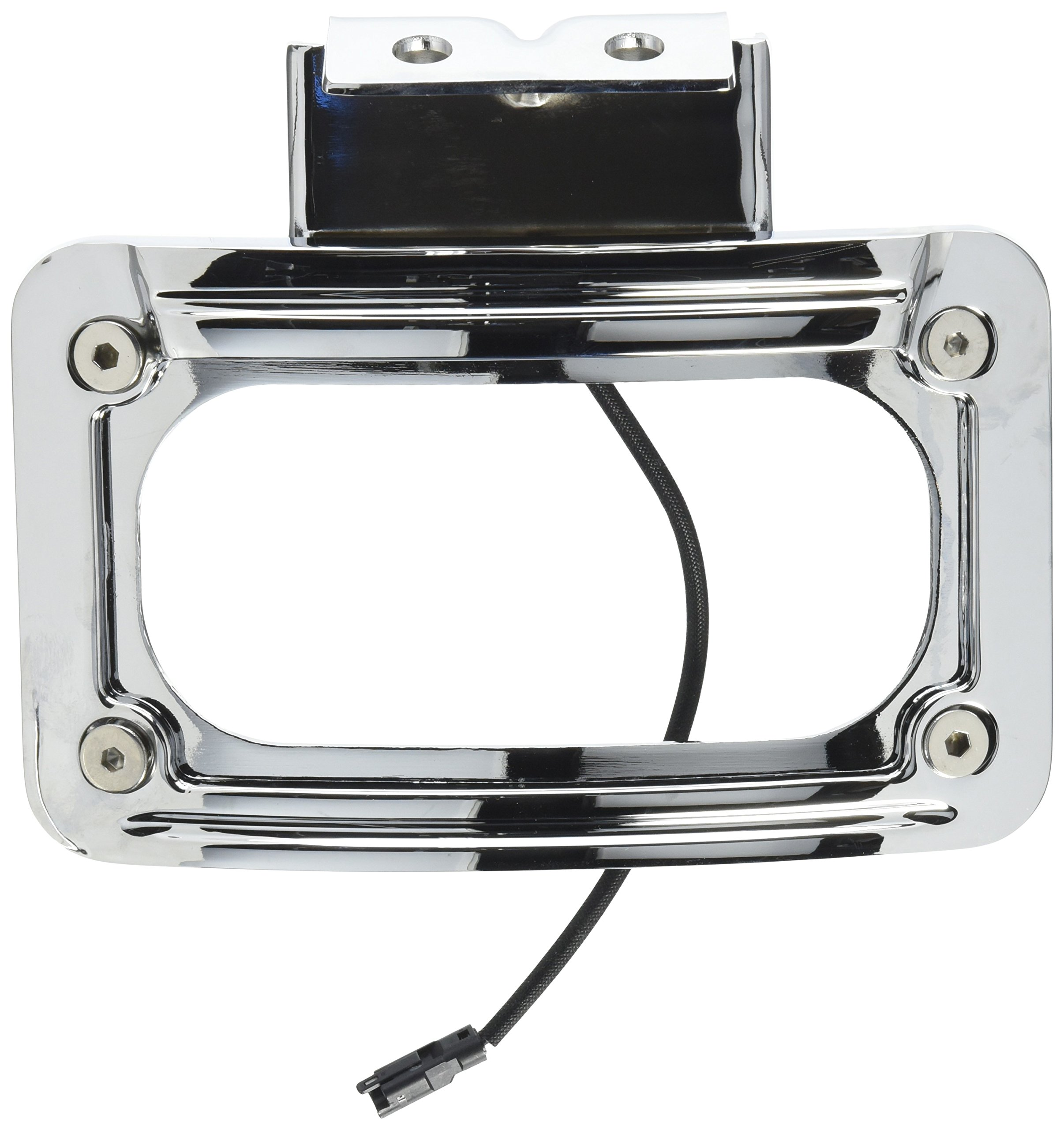 Kuryakyn 5699 LED Curved License Plate Frame with Mount by Kuryakyn