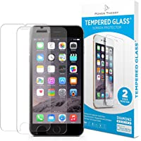 iPhone 7/8 Screen Protector [2-Pack] Premium 9H Tempered Glass Screen Protectors with Easy App Install Kit for Apple iPhone7/iPhone8 by Power Theory