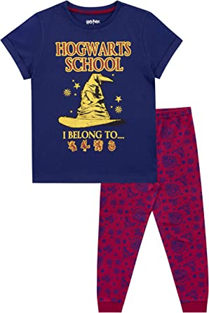 Brand New Character UK Harry Potter Hogwarts Pyjamas Set Sizes 4 Years-13 Years