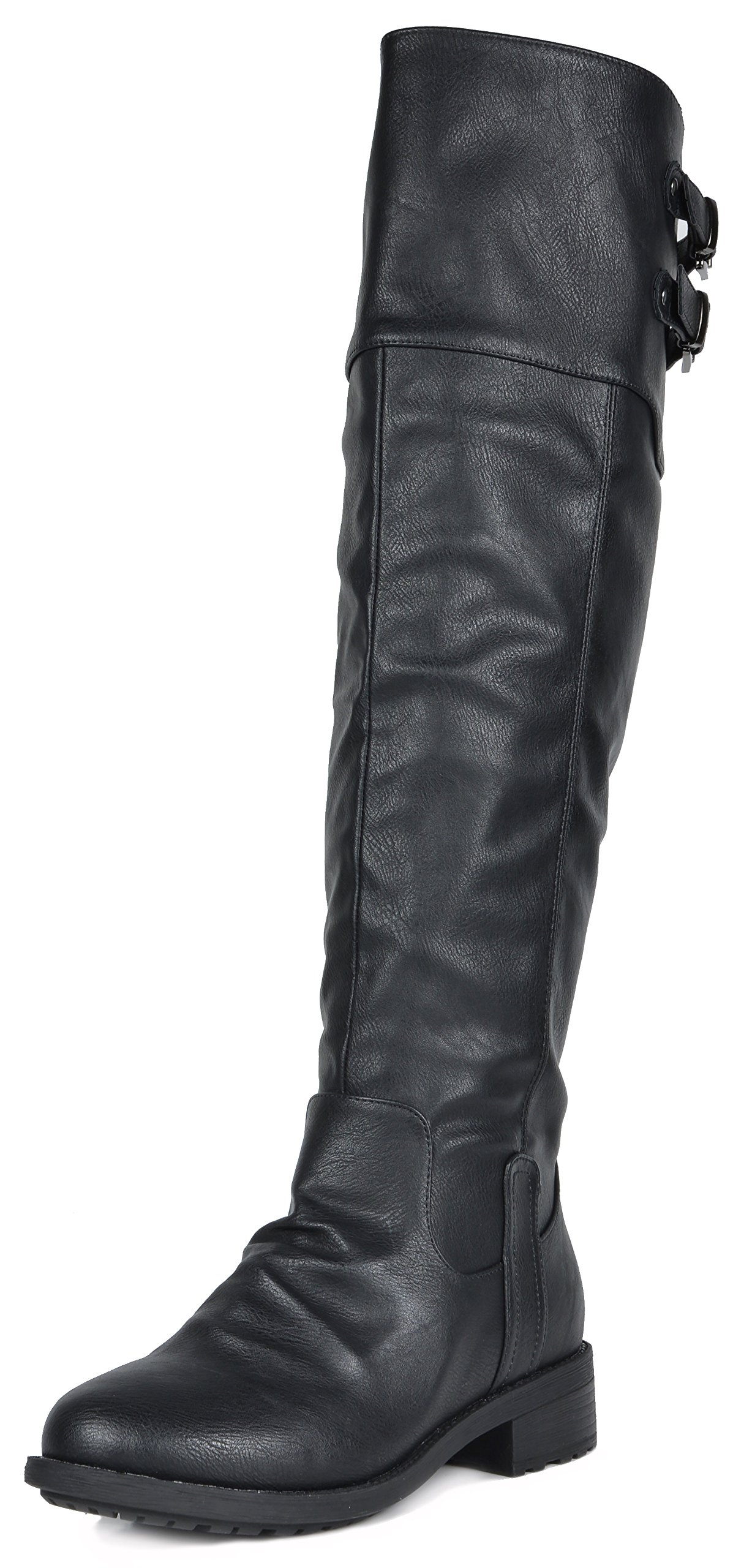 a193b9dd69a DREAM PAIRS Women s Knee High and up Riding Boots (Wide-Calf) product image
