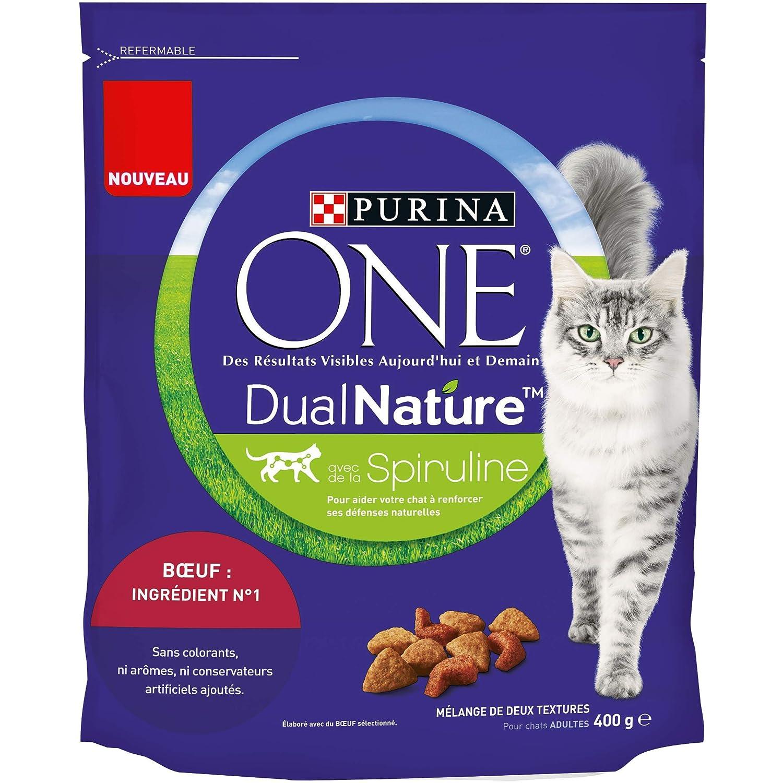 PURINA ONE DUALNATURE avec de la Spiruline- au Bœuf - 400g - croquettes pour chat adulte Nestle ProPlan 12353520