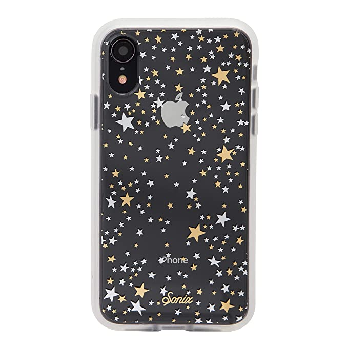 sports shoes 1fd28 5ce1b iPhone XR, Sonix Starry Night (Gold, Silver, Stars) Cell Phone Case  [Military Drop Test Certified] Protective Clear Case for Apple iPhone  (6.1