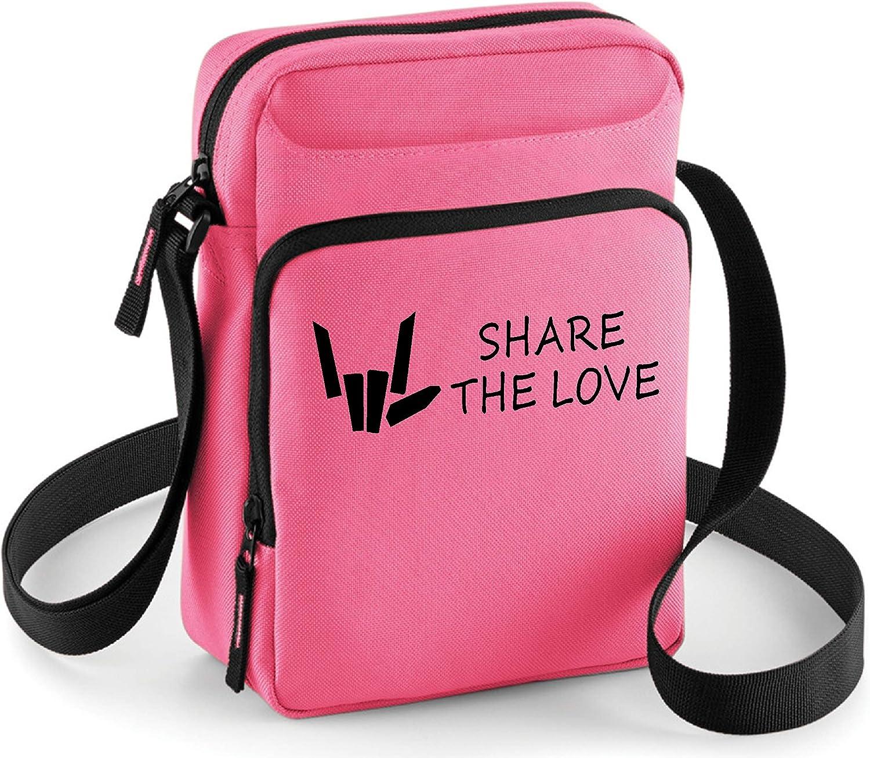 SHARE THE LOVE CROSS BODY BAG MONEY TRAVEL MINI Ipad TABLET Kids girls