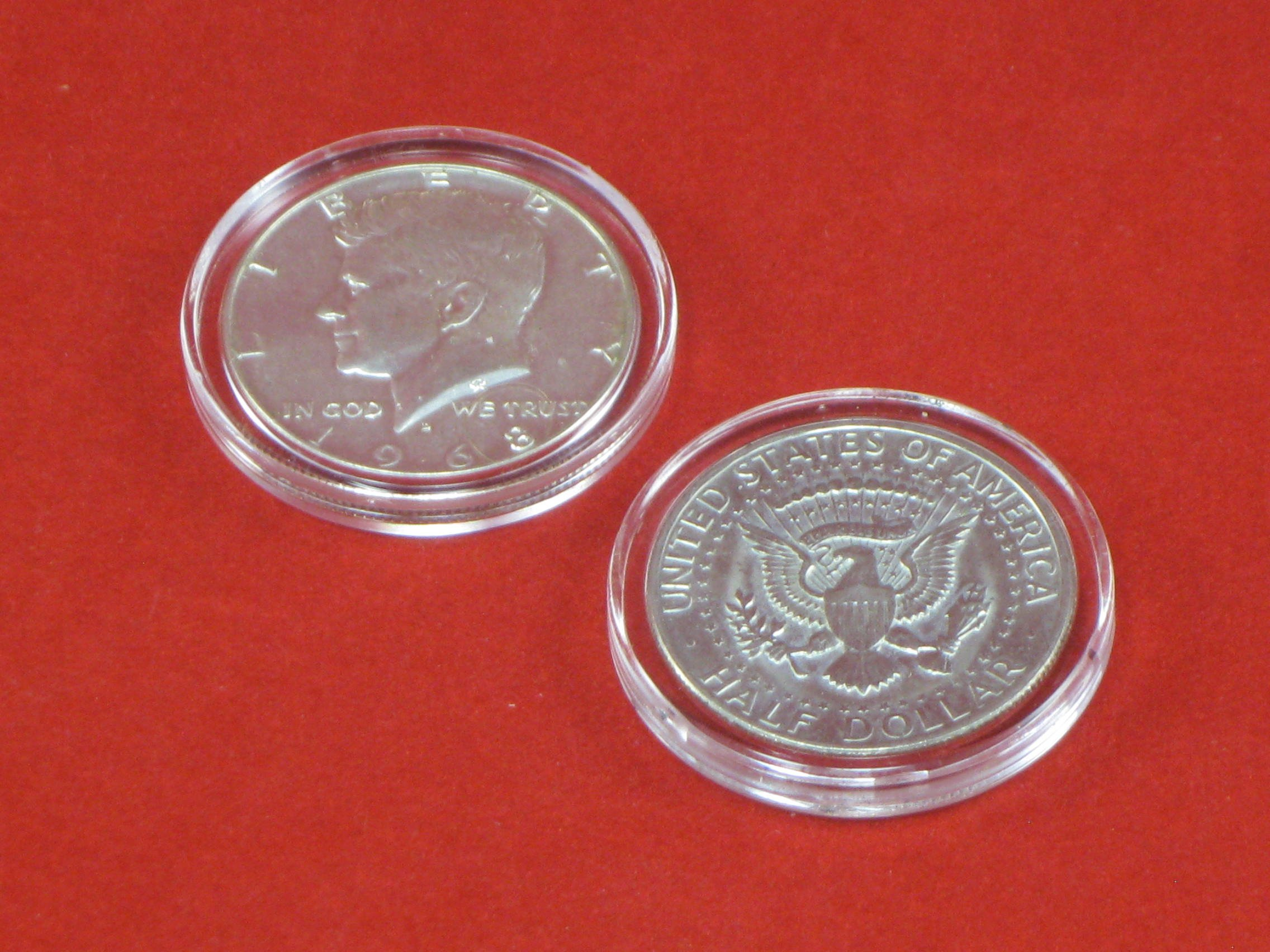 25 Half Dollar Direct Fit Air-Tite Coin Holder Capsules ''NO-Scratch Premium Packaging'' T30