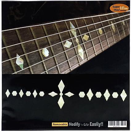New Set of 10 White Pearlized Diamond Guitar Fret Inlays