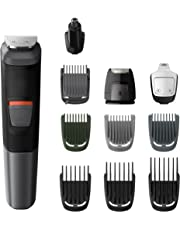 Philips Series 5000 11-in-1 Multi Grooming Kit for Beard, Hair and Body with Nose Trimmer Attachment - MG5730/33