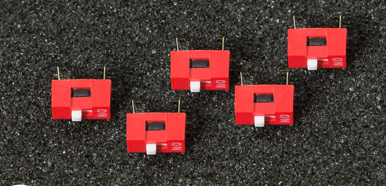5 Stück 1P DIP Switch, mit 2.54 Rastermaß für Arduino Raspberry Pi Breadboards mit 2.54 Rastermaß für Arduino Raspberry Pi Breadboards MissBirdler 4260509783644