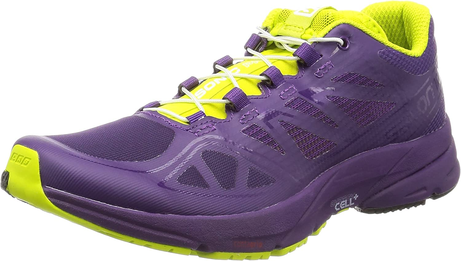 Salomon L37917300, Zapatillas de Trail Running para Mujer, Morado (Cosmic Purple/Cosmic Purple/Gecko G), 38 2/3 EU: Amazon.es: Zapatos y complementos