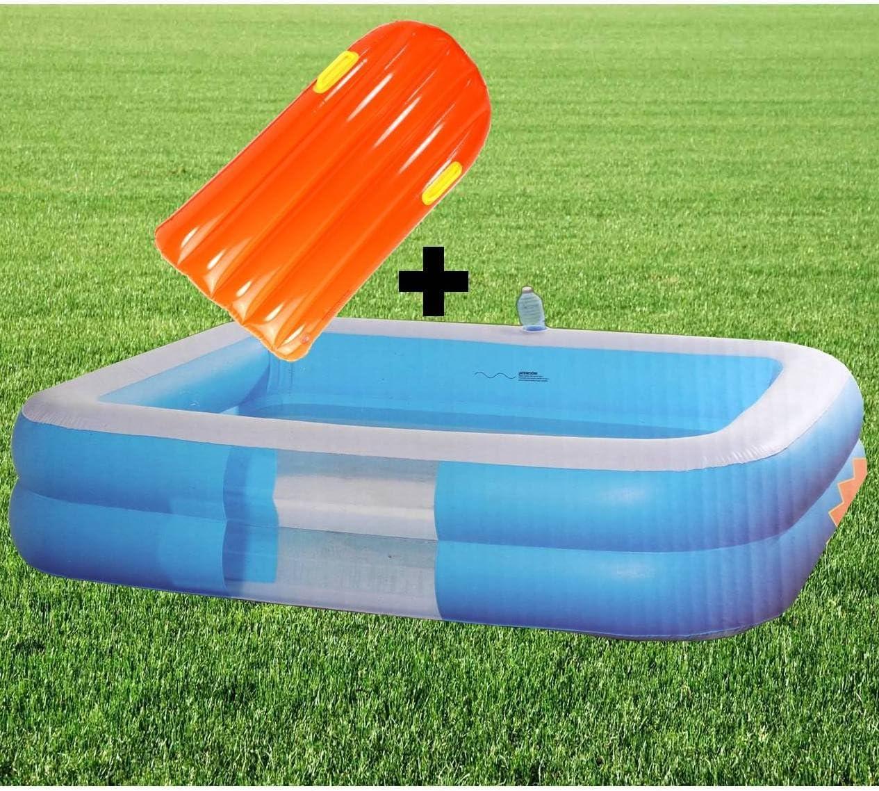 Jumbo Pool planschbecken + Tarjeta de Deslizamiento Piscina 196 cm niño Piscina Hinchable ~ MP 169 +: Amazon.es: Jardín