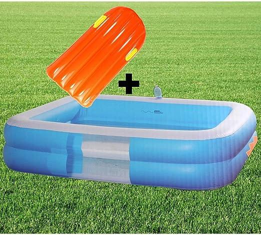 Jumbo Pool planschbecken + Tarjeta de Deslizamiento Piscina 196 cm ...