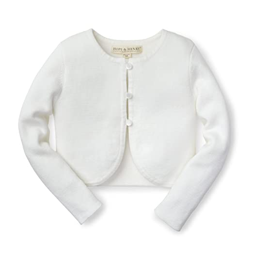 official photos 9d86f db95d Hope /& Henry Girls Milano Stitch Cardigan Made with Organic ...