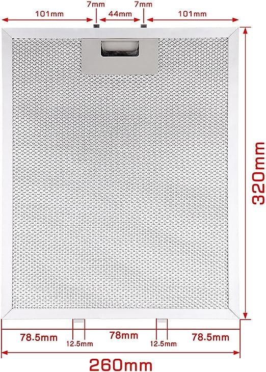 Como Direct Ltd ™ Pack de 2 campana Metal filtro de grasa New Clip Size 320mm X 260mm: Amazon.es: Hogar