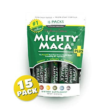 Amazon.com: Mighty Maca Plus - Delicioso, totalmente natural ...