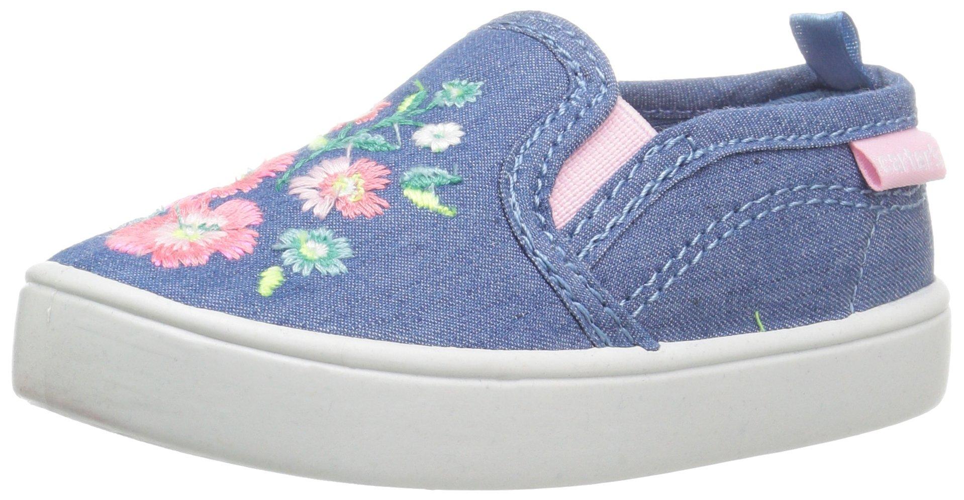 carter's Tween Girl's Novelty Slip-On, Blue, 7 M US Toddler