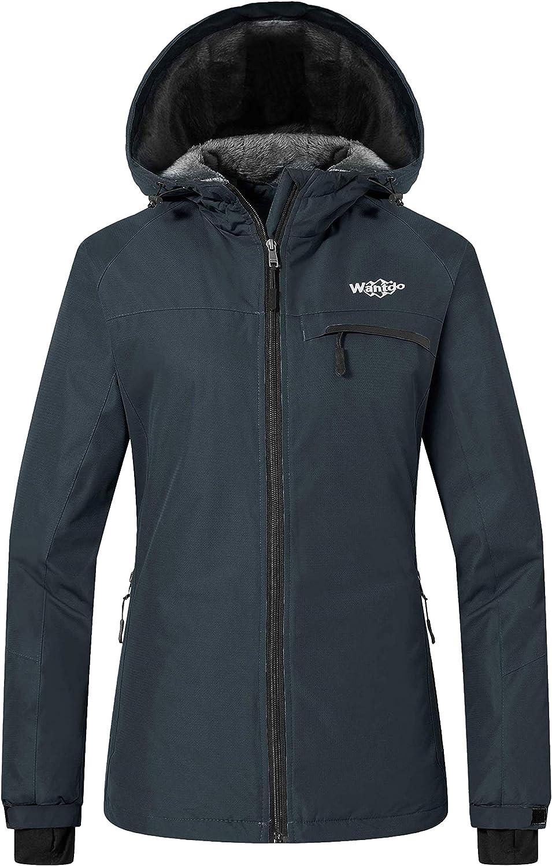 Wantdo Women's Mountain Waterproof Ski Jacket Windproof Hooded Winter Snow Coat