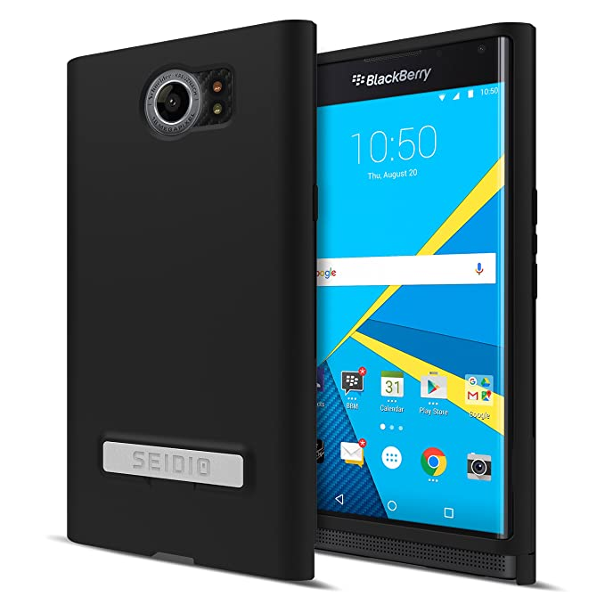 Seidio SURFACE with Metal Kickstand Case for the BlackBerry Priv [New Design] [Slim & Sleek] - Black