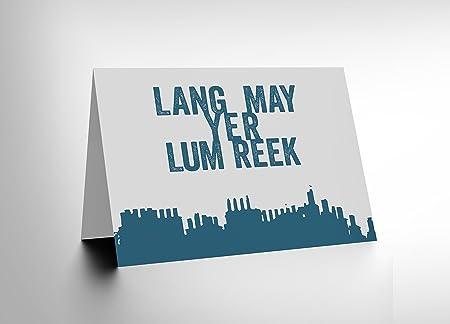 Quote scots saying lang lum reek hogmanay scotland blank greetings quote scots saying lang lum reek hogmanay scotland blank greetings card cl111 m4hsunfo