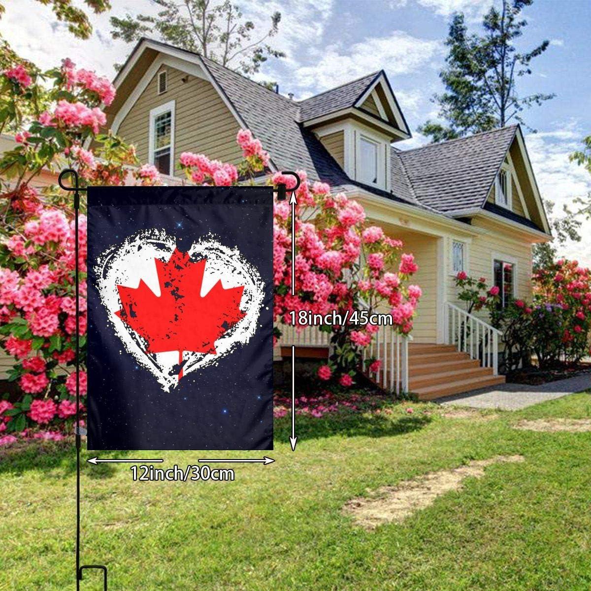 FQ#8FLAG Vintage Canada Flag Heart Welcome Family Flag Garden Home Home Garden Flag 12 X 18 Inches
