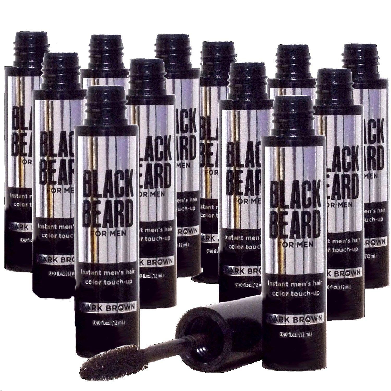 Amazon.com : Blackbeard for Men - Instant Brush-on Beard & Mustache Color - 13-pack (Dark Brown) : Eau De Toilettes : Beauty