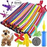 Infispace® Animals Kit Twisting Balloons with Free Air Pump (100pcs Latex Long Balloons)