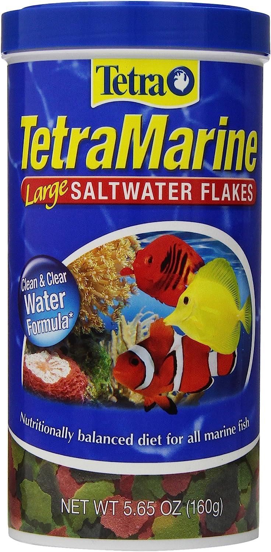 Fish Food 160g Tetra Large Saltwater Flakes for Marine Fish