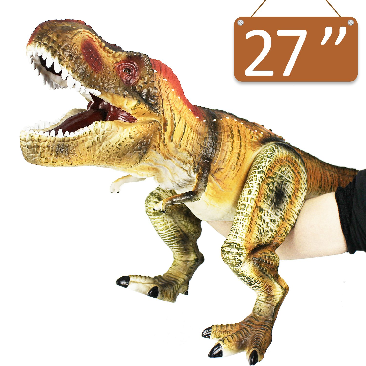 Tyrannosaurus Rex - iPlay, iLearn Dinosaur Action Figure Toys Hand Puppet Dinosaur Animals With Noises (27 Inches)