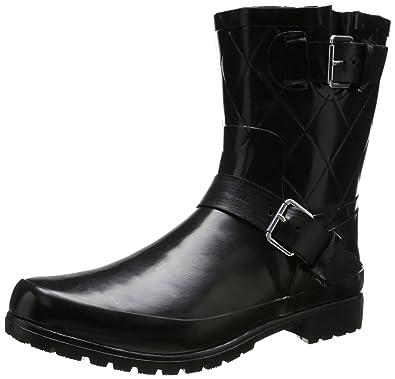 Amazon.com | Sperry Top-Sider Women's Falcon Rain Boot, Black, 6 M ...