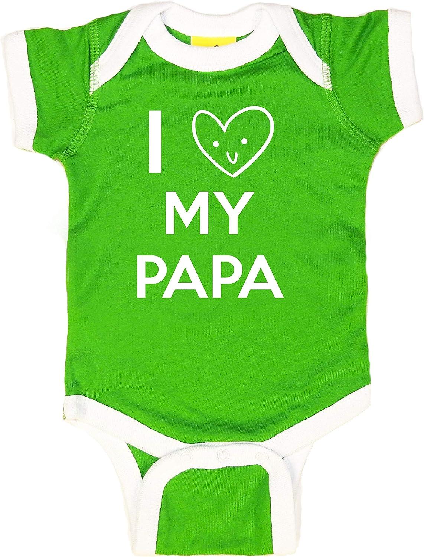 Sticky Bananas Unisex-Baby I Love My Papa Baby Bodysuit