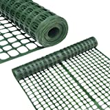 Abba Patio Snow Fence 4' X 100' Feet Plastic Safety Fence Roll Temporary Poultry Fencing Mesh Economy Construction…