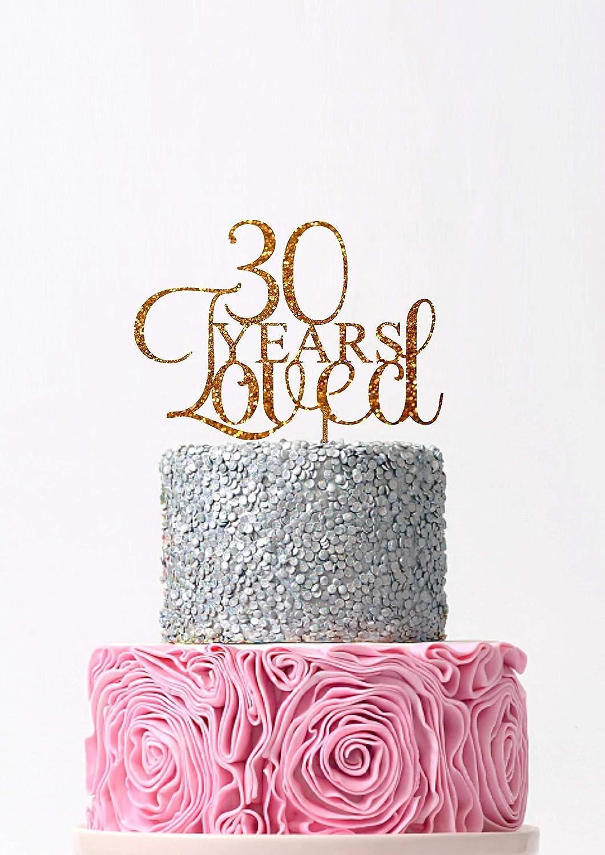 Custom Birthday Cake Topper Happy 30th Birthday Cake Topper Personalized 30th Cake Topper 30 Cake Topper Birthday Cake Topper