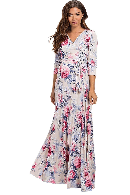 584cc5c5aee PinkBlush Maternity Floral Sash Tie Maxi Dress
