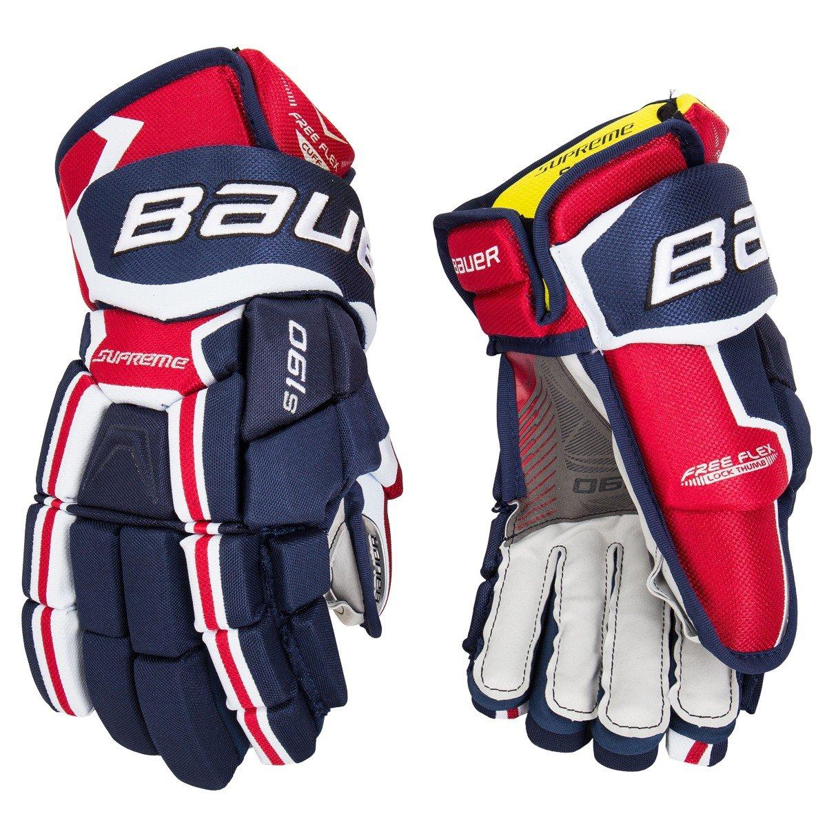 Generic Bauer Supreme S190Gants de Hockey Junior–Bleu Marine/Rouge/Blanc–30,5cm 5cm Unknown