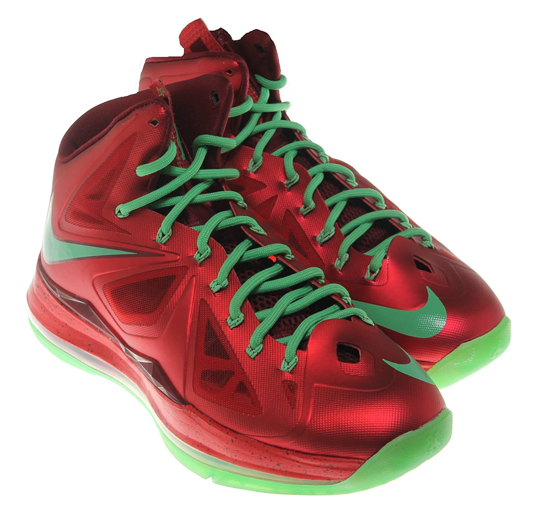 various colors d5863 08478 Amazon.com   Nike Mens Lebron X Christmas Day Red Tremlin 541100-600    Basketball