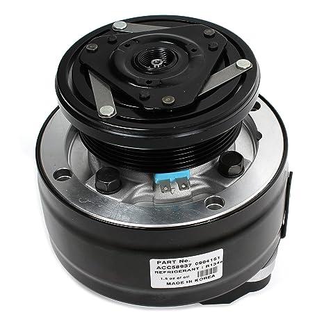 Nueva acc58937 AC a/c compresor con 6 ranuras embrague (conector de 2 pines