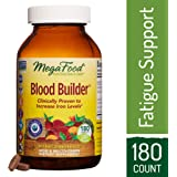 MegaFood - Blood Builder, Iron Supplement, Supports Energy and Red Blood Cell Production Without Nausea or Constipation, Vegan, Gluten-Free, Non-GMO, 180 Tablets (FFP)