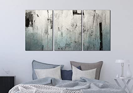 Amazon.com: wall26-3 Panel Canvas Wall Art - Abstract Grunge Color ...