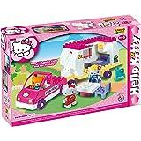Unico 8679 - Juego de construcción de caravana (47 piezas), diseño de Hello Kitty
