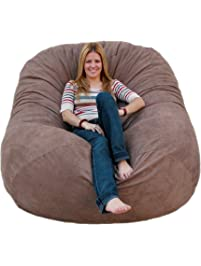 Cozy Sack 6 Feet Bean Bag Chair, Large, Earth