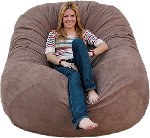 Amazon.com: Cozy Sack 6-Feet Bean Bag Chair, Large, Earth: Furniture & Decor