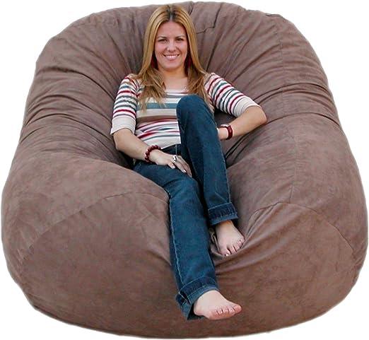 Amazon.com: Cozy Sack 6-Feet Bean Bag Chair, Large, Earth: Furniture & Decor
