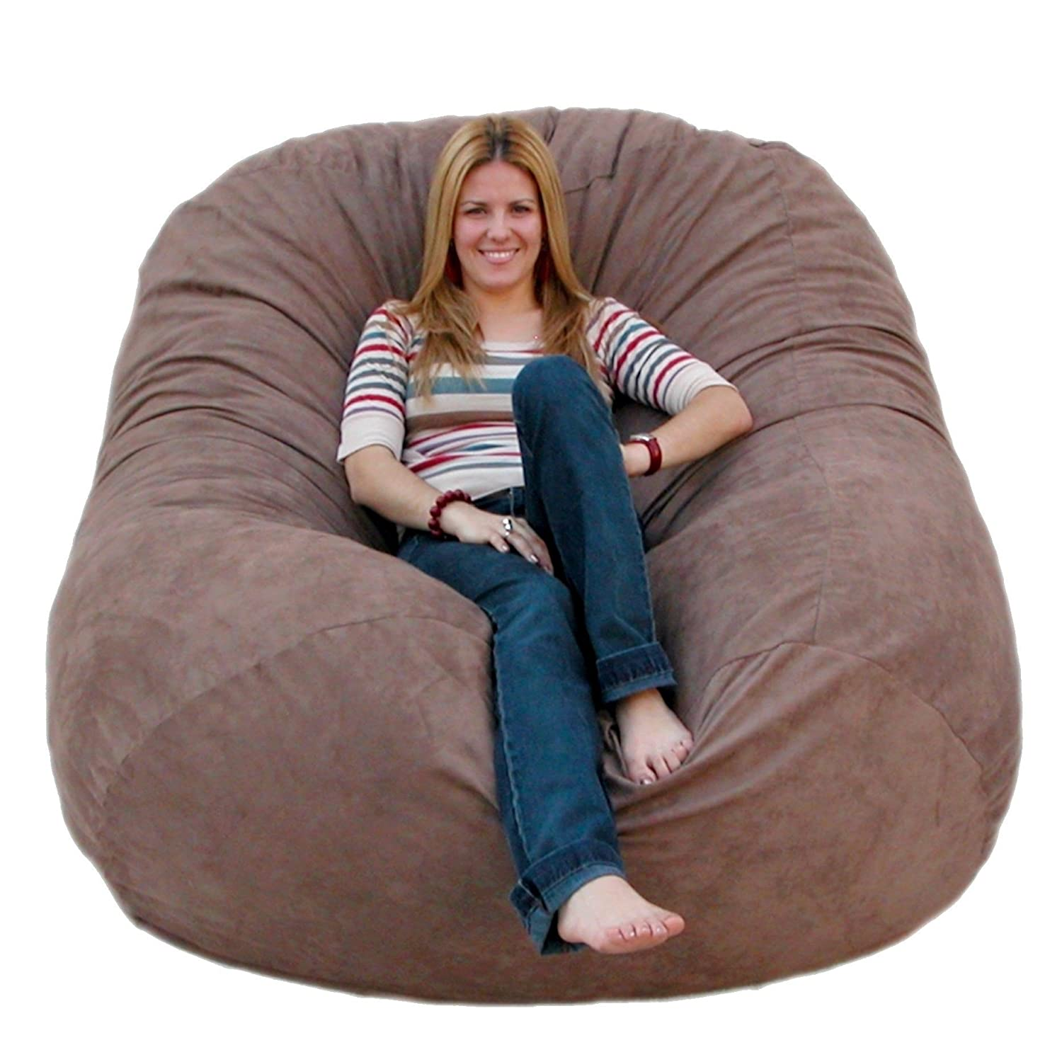 Bean bag chairs for adults - Amazon Com Cozy Sack 6 Feet Bean Bag Chair Large Grey Kitchen Dining