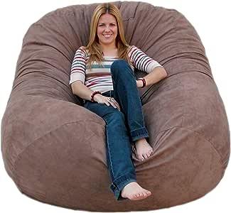 Amazon.com: Cozy Sack 6-Feet Bean Bag Chair, Large, Earth ...
