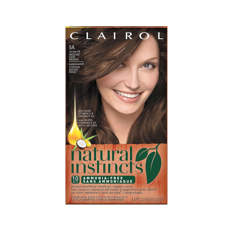 Clairol Natural Instincts 24, Clove, Medium Cool Brown 1 Kit (Pack of 3)