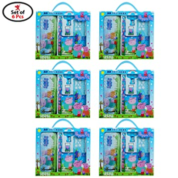 Party Propz Peppa Pig Stationary 6 Sets For Birthday Return Gifts Or Kids