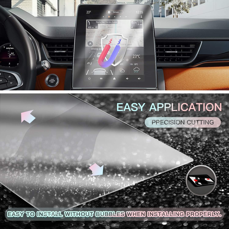 CDEFG per Zoe Clio Captur 2020 Auto Navigation Pellicola Protettiva 4H antigraffio Anti impronte 9,3 pollici GPS Pellicola Protettiva Trasparente 2 pezzi
