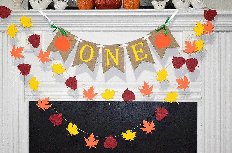 One /& A Pumpkin For Highchair Decorations First Birthday Banner Garland